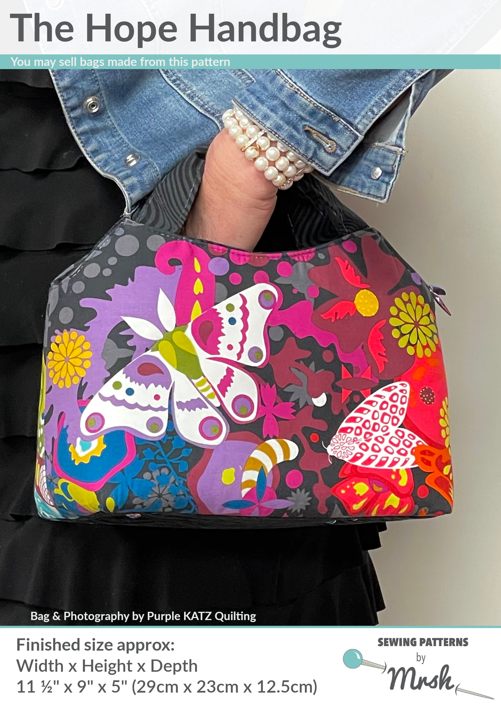 Hope Handbag by Sewing Patterns by Mrs H